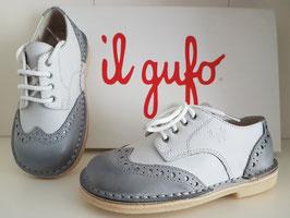 IL GUFO Scarpe ICARUS Bimbo in Vera Pelle Bianco / Grigio |G233|
