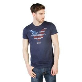 TRUSSARDI Action T-Shirt Girocollo Mod. 2AT02F a Manica Corta con Stampa e Logo Frontale