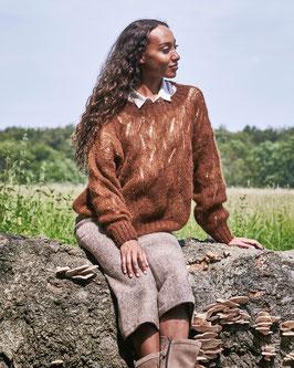 Sweater med våghålmönster