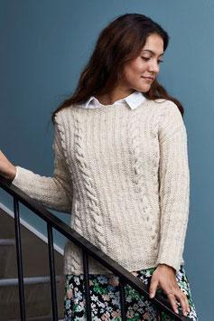 Sweater med flätor