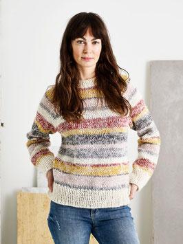Sweater med melerade ränder