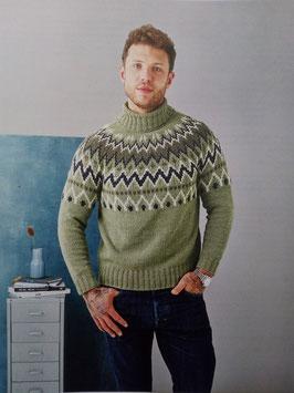 Sweater med mönstrat ok till herr