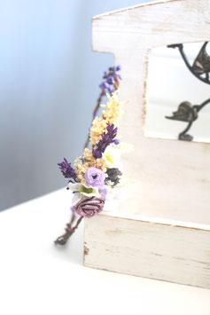 Haarkranz - Vintage violett2