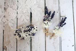 Set für die Braut - Lavendel und Schleierkraut