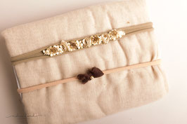 "Wrap und Stirnband Set ""Creamy"""