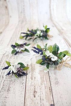 Set für die Braut - Lavendel und Beeren
