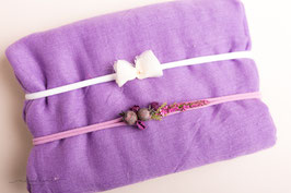 "Wrap und Stirnband Set ""purple"""