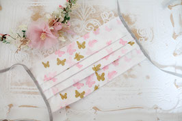 Mundmaske -Schmetterling (Rosa)
