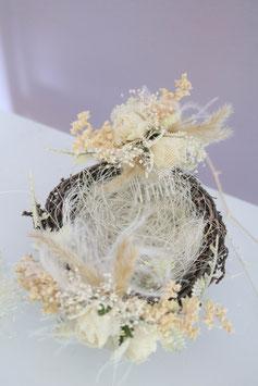 Set: Ringhalter (Nest) mit Haarkamm