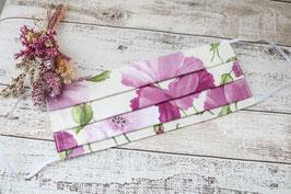 Mundmaske - Blumen - Rosa