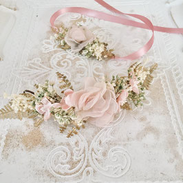 Brautset: Viertelkranz und Armband