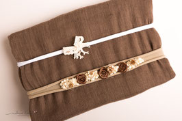 "Wrap und Stirnband Set ""Brownie"""