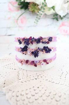Stirnband - Violett 1, 2, 3