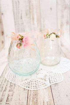 Blumenbänder für Teelichthalter