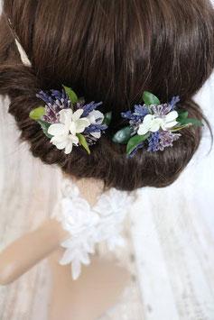 Haarnadeln - Lavendel und Beeren