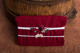xmas Collection - Weinrotes Wrap und Stirnband Set Nr. 1