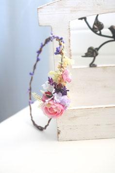 Haarkranz - Vintage violett1