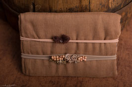 xmas Collection - Braunes Wrap und Stirnband Set Nr. 2