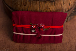 xmas Collection - Weinrotes Wrap und Stirnband Set Nr. 3