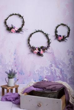 Wanddeko - Ringe,  Violett