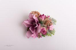 Brosche & Haarklammer - rosa