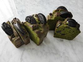 Macha (powdered green tea) & Olea bisucuit pound cake
