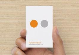 Mentalkarte Konzentration  nach MentalPower®
