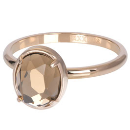 Ring Glam Oval Champagne rosegold
