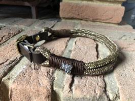 Tau Halsband Braungold