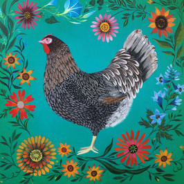 Blue Barnvelder Garden Hen