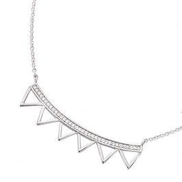Collier Argent 925 Rhodié – Triangle