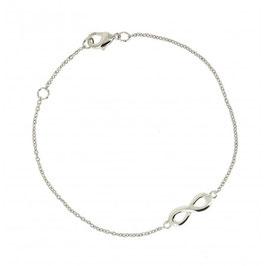 Bracelet argent motif infini