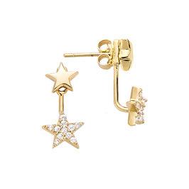 Boucles d'oreilles plaqué-or étoiles