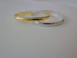 Bracelet jonc en métal doré ou argenté