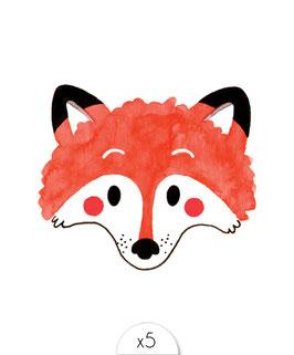 Une petite tête de renard très mignon dans les tons marron et noirs.