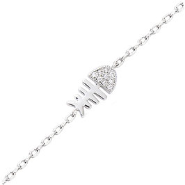 Bracelet Argent 925 Rhodié – Poisson