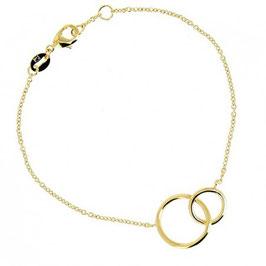 Bracelet plaqué or cercle entrelacé