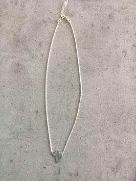 """Collier en argent 925 pendentif """"cactus"""""""
