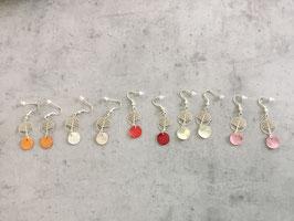 Boucles d'oreilles arbre de vie et nacre de couleur