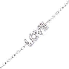 "Bracelet argent zirconium ""LOVE"""