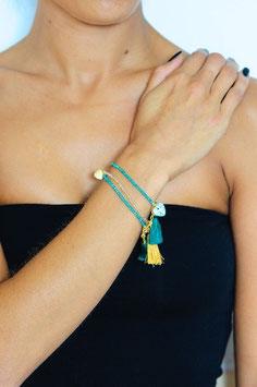 Bracelet en perles de cristal facetées