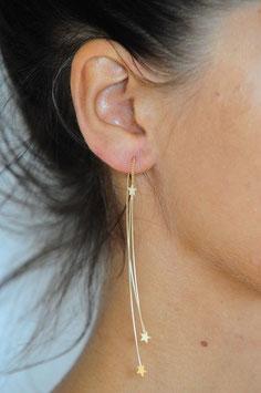 Boucle d'oreille motif Etoiles