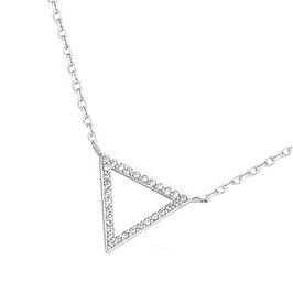 Collier en argent massif triangle zirconium