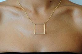 Collier chaine avec un rectangle