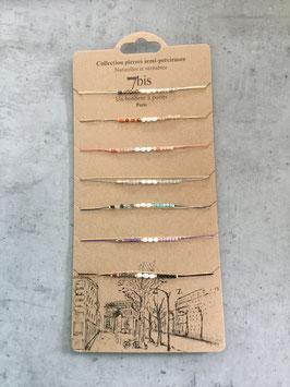 Bracelet 7 bis pierre semi précieuse et naturelle