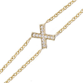 Bracelet plaqué or chaine double zirconium