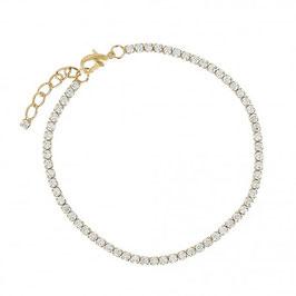 Bracelet plaqué or rivière de pierres en oxyde de zirconium