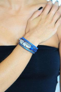 Bracelet manchette Plume argenté ou doré