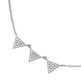 Collier Argent 925 Rhodié – Triangle zirconium