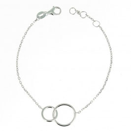 Bracelet argent massif anneau entrelaçé